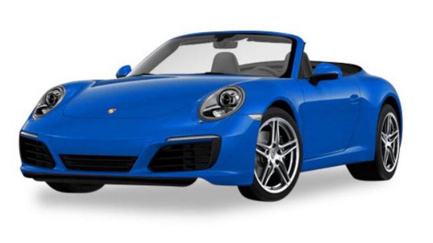 Herpa 38843 Porsche 911 Carrera 2 Cabrio saphirblau metallic