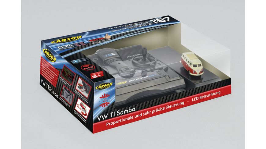Carson - 1:87 VW T1 Samba Bus 2.4G 100% RTR 500504119