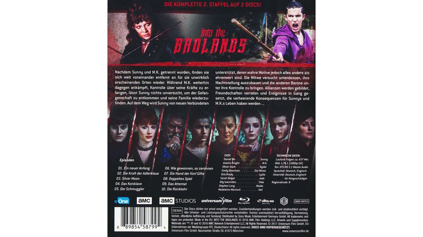 Into the Badlands Staffel 2 Uncut 2 BRs