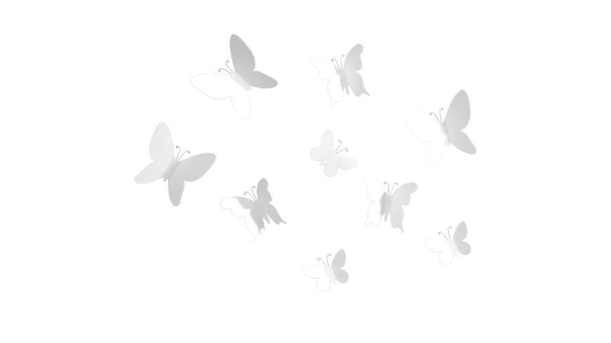 umbra Wanddekoration Mariposa 9er Set