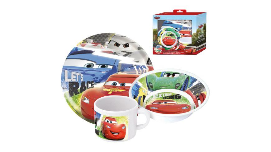 Disney Cars Fruehstuecksset im Geschenkkarton 3 teilig