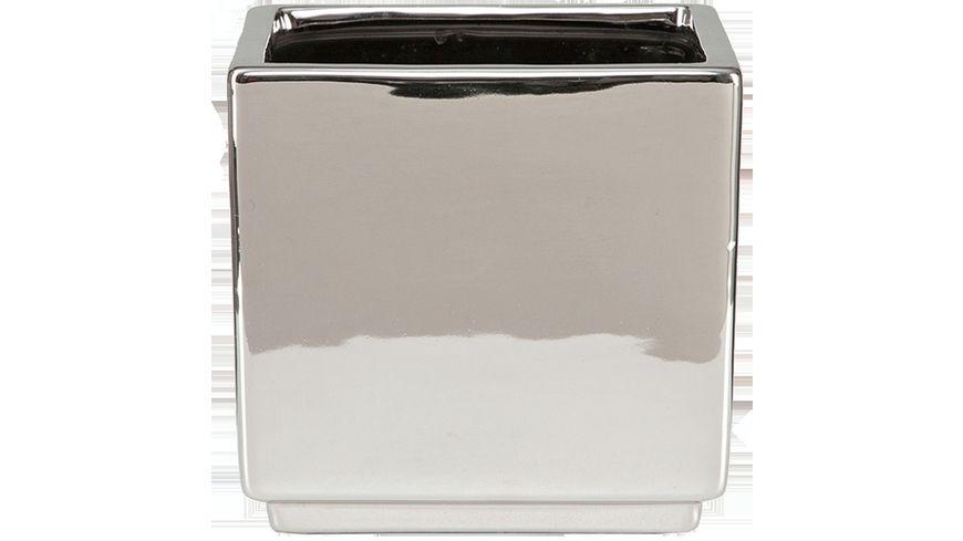 scheurich Schale Mirror Silver quadratisch gross