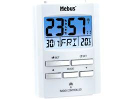 Mebus Digitaler Funkwecker weiss ca 9 7 6 7 4 1 cm