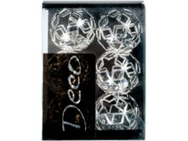 EUROSAND Brillant Metall Ball Silber 6 teilig