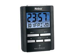 Mebus Digitaler Funkwecker Schwarz ca 9 7 6 7 4 1 cm