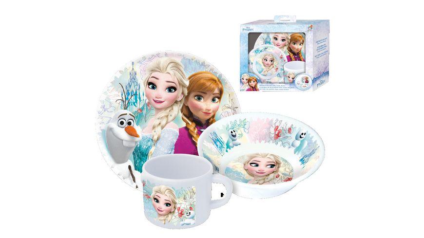 Disney FROZEN Fruehstuecksset im Geschenkkarton 3 teilig