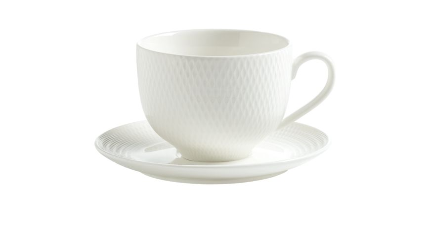 MAXWELL WILLIAMS Tasse mit Untertasse Diamonds Round 280 ml