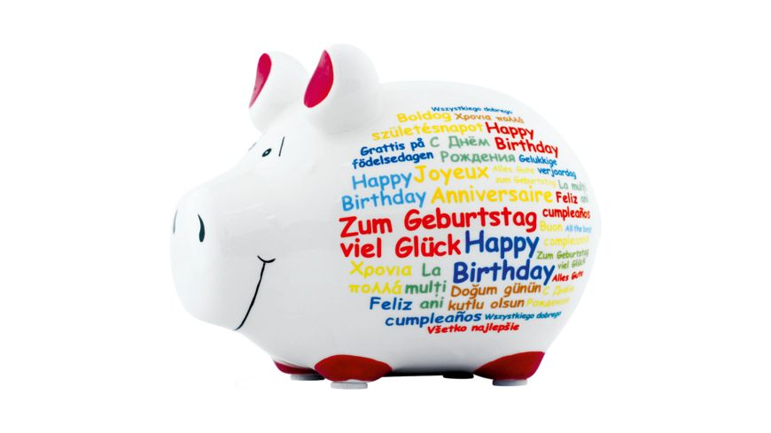 KCG Sparschwein Happy Birthday