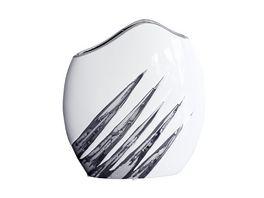 GILDE Keramik Ovalvase Yucca flach ca 25 27 5 cm