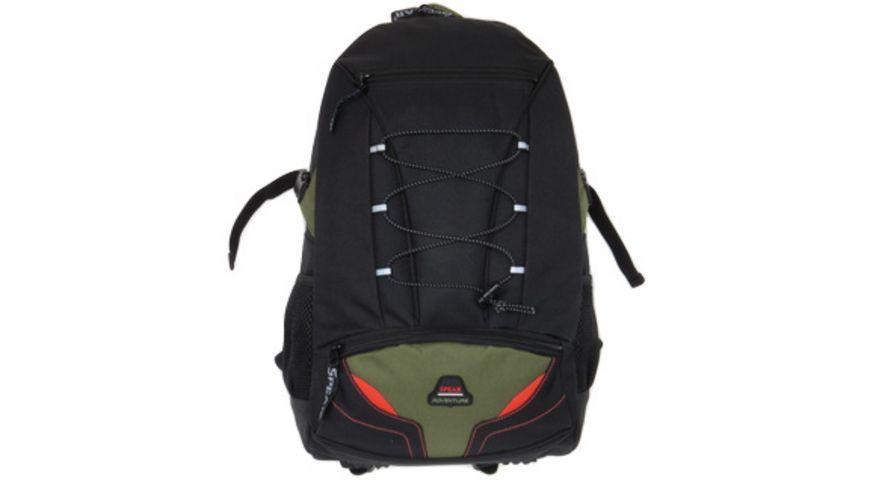 SPEAR Rucksack aus 600 D Polyester schwarz oliv