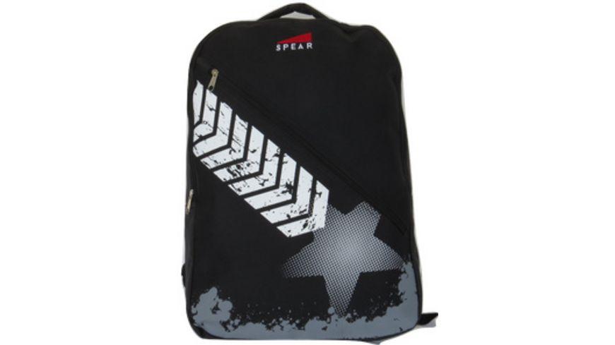 Rucksack mit Vorfach schwarz