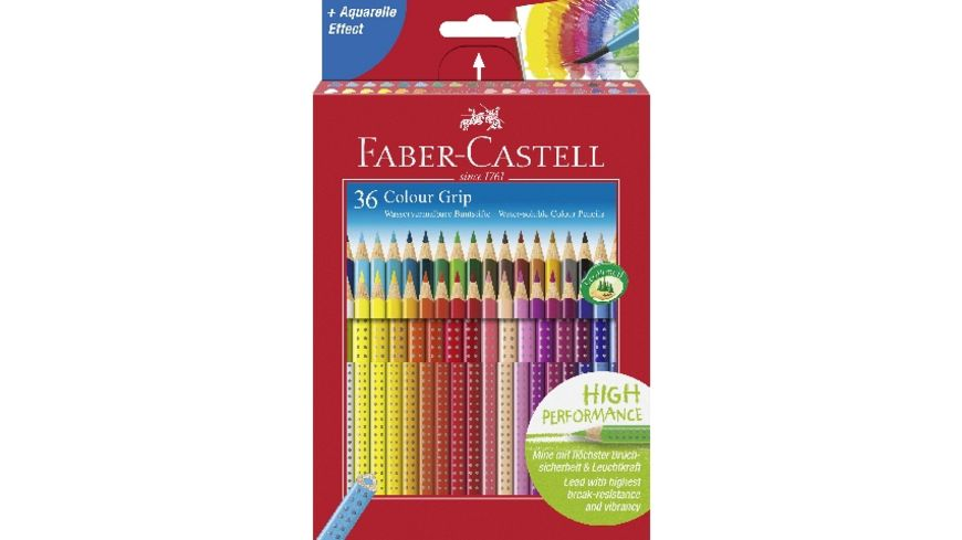 FABER CASTELL Farbstift Grip Colour 36er Etui Karton