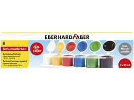 Eberhard Faber Temperafarben Set inkl Mischpalette 6er Pack