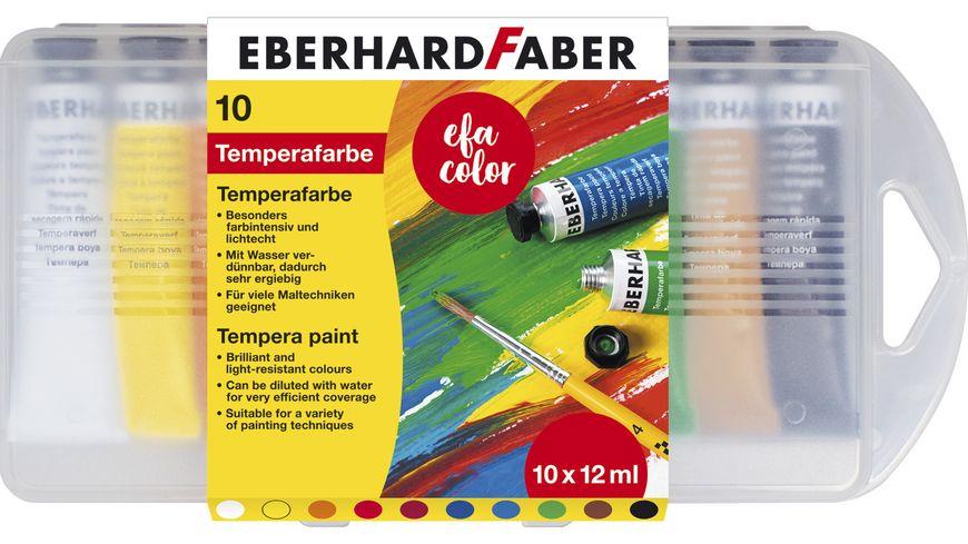 Eberhard Faber Temperafarben Set 10er Kunststoffbox