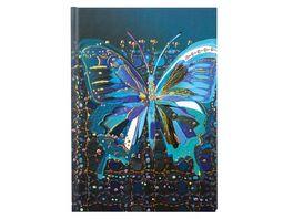 Goldbuch Notizbuch blanko Flower Butterfly