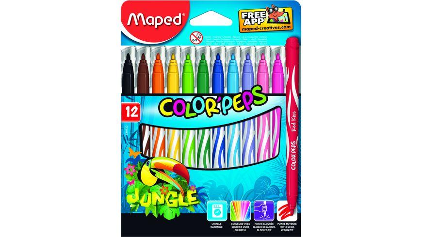 Maped Filzstifte Color Peps Jungle 12er