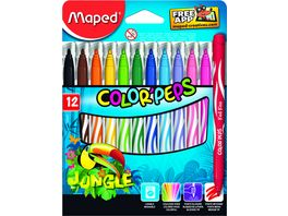 Maped Fasermaler Color Peps Jungle 12er
