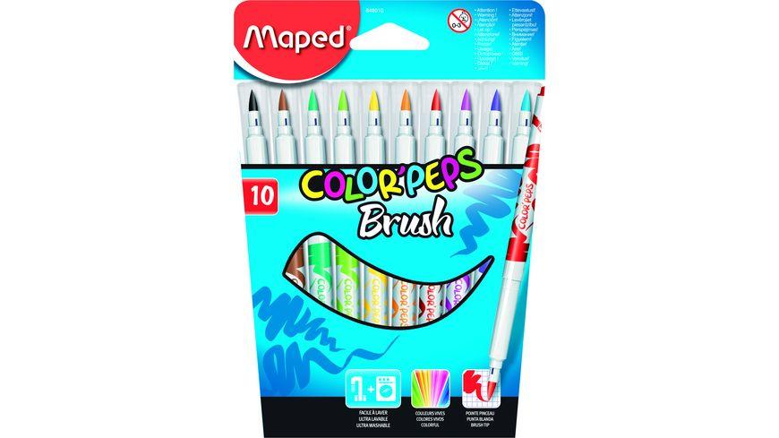 Maped Fasermaler Color Peps Brush 10er