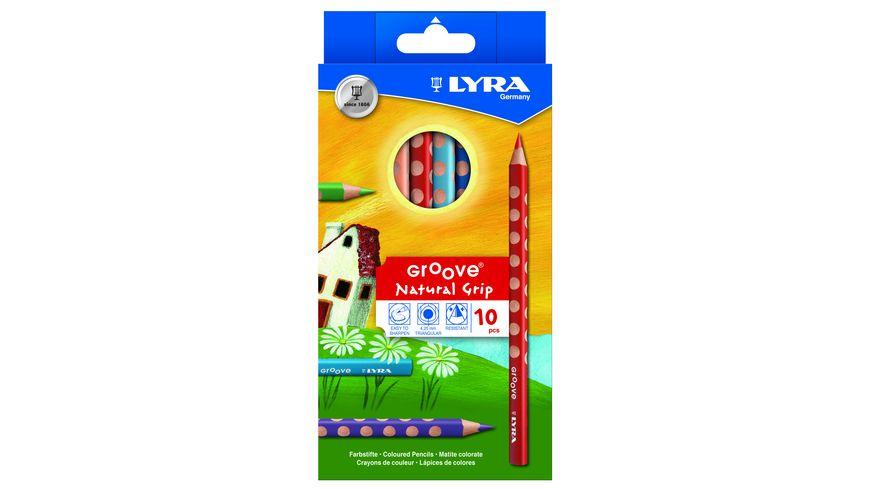 LYRA Farbstifte GROOVE Natural Grip