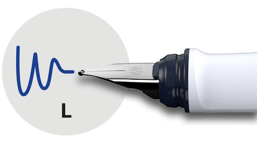 Schneider Fuellhalter Ray Feder L blau grau
