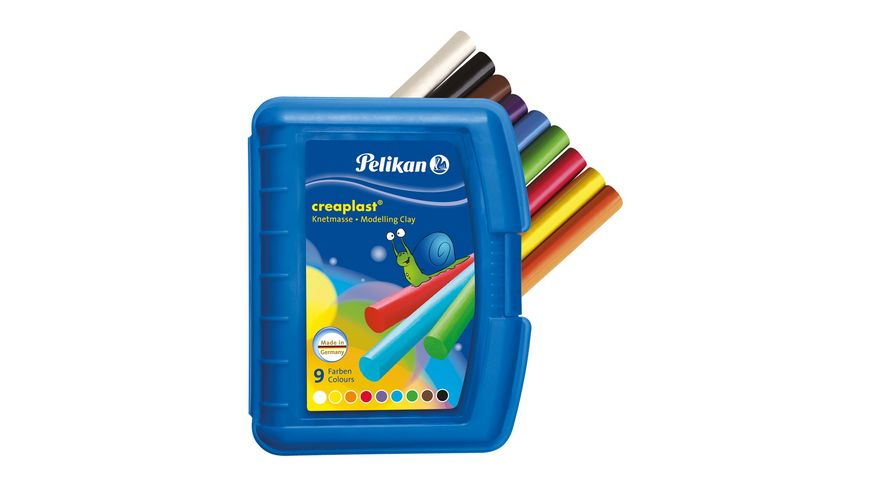 Pelikan Knetmasse creaplast 9 Farben in blauer Box
