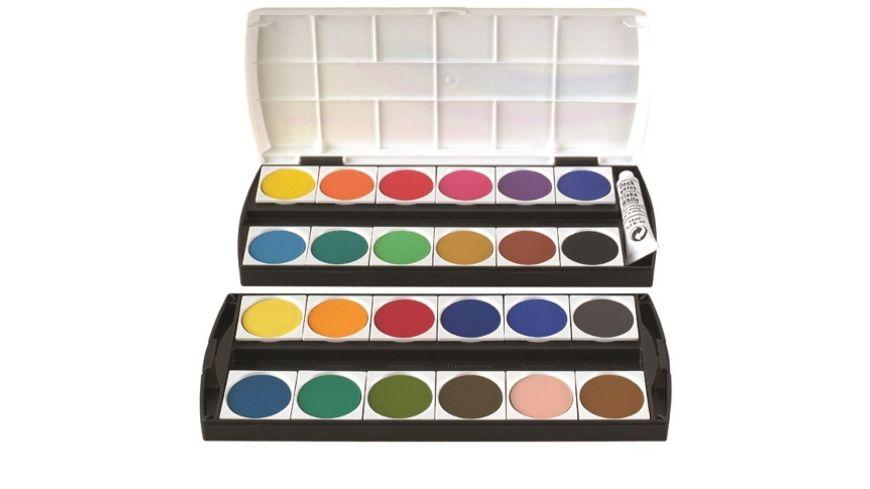 Deckfarbkasten GEHA 155 mit 24 Farben