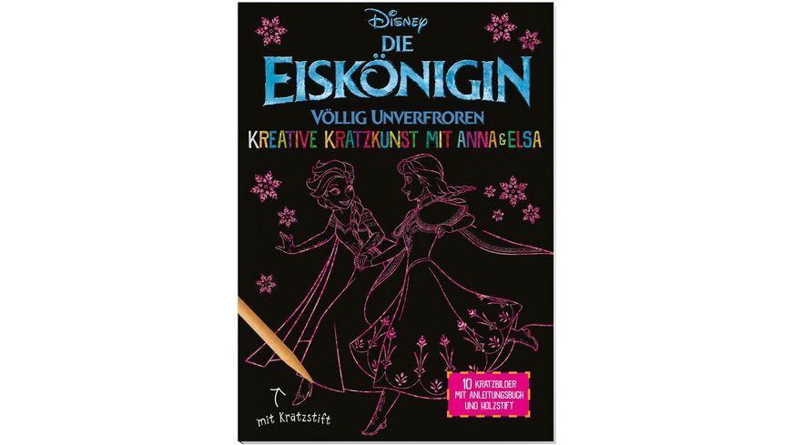 Nelson Verlag Disney Die Eiskoenigin Kreative Kratzkunst mit Anna und Elsa