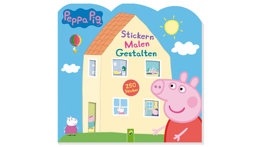 Buch - Schwager & Steinlein - Peppa Pig Stickern Malen Gestalten