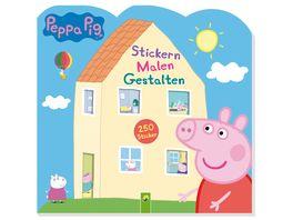 Buch Schwager Steinlein Peppa Pig Stickern Malen Gestalten