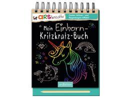 Buch Ars edition Mein Einhorn Kritzkratz Buch