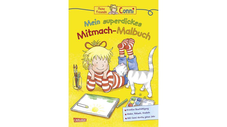 Buch Carlsen Conni Gelbe Reihe Mein superdickes Mitmach Malbuch