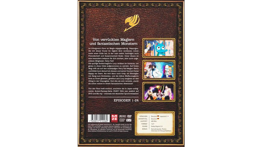 Fairy Tail TV Serie Box 1 Episoden 1 24 4 DVDs