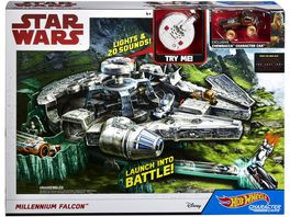 Mattel Hot Wheels Star Wars Episode 8 Millenium Falke Spielset
