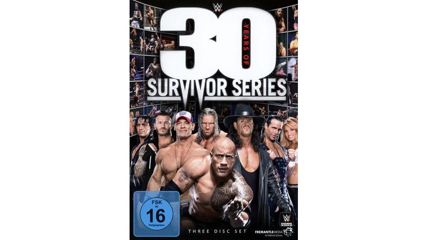 WWE 30 Years of Survivor Series 3 DVDs