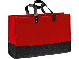 Filztasche rot schwarz