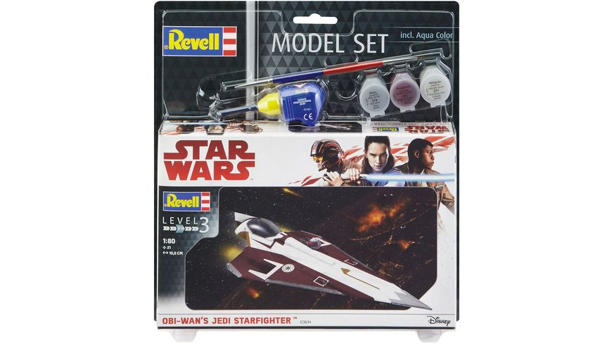 Revell 63614 Star Wars 1 80 Model Set Obi Wan s Jedi Starfighter