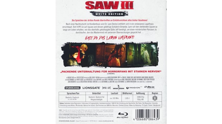 Saw III White Edition