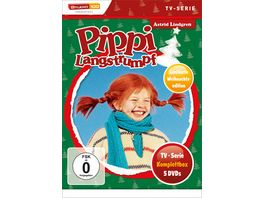 Pippi Langstrumpf TV Serien Box Christmas Limited Edition 5 DVDs