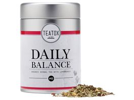 TEATOX Daily Balance Bio Kraeutertee mit Zitronengras