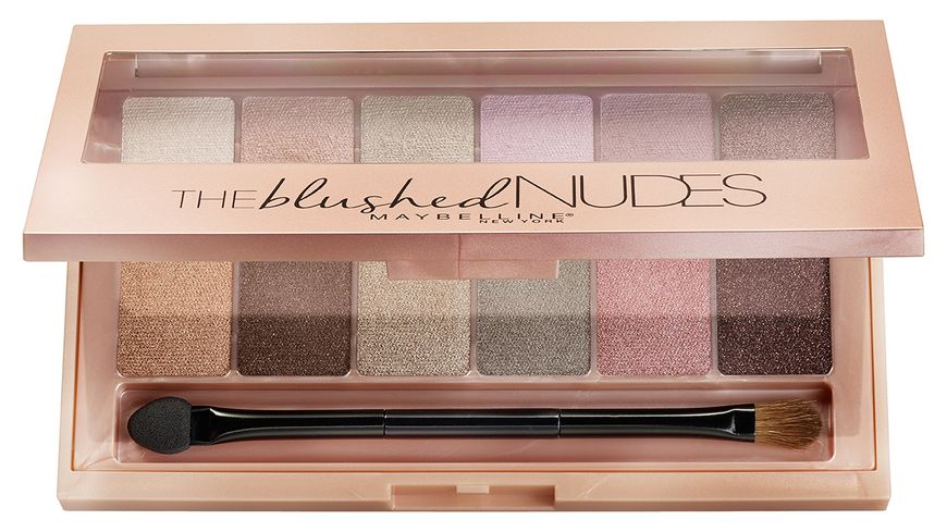 MAYBELLINE NEW YORK The Blushed Nudes Lidschatten Palette