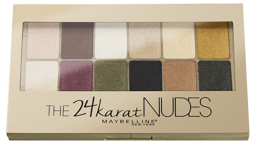 MAYBELLINE NEW YORK The 24 Karat Nudes Lidschatten Palette