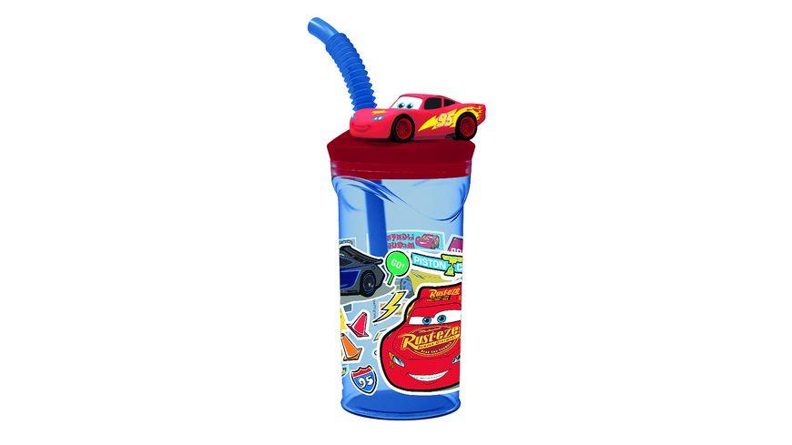 p os Handel Cars 3D Trinkbecher inkl Strohhalm