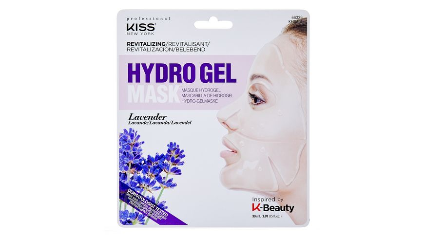 KISS Professional New York Hydrogel Maske Lavender Oil