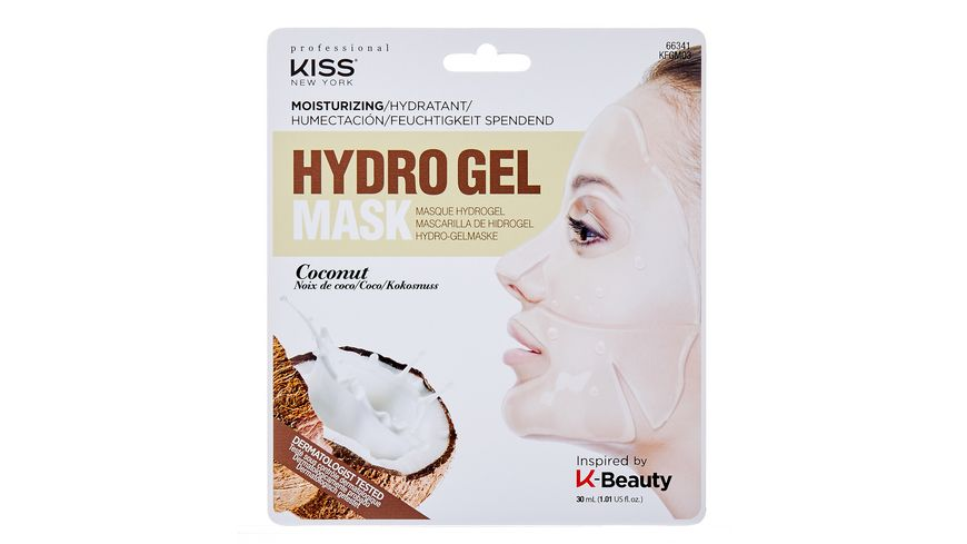 KISS Professional New York Hydrogel Maske Coconut Oil