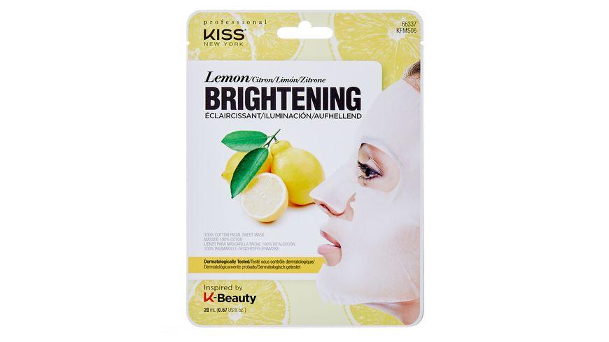 KISS Professional New York Natur Vlies Maske Lemon