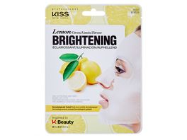 KISS Professional New York Natur Vlies Maske Lemon