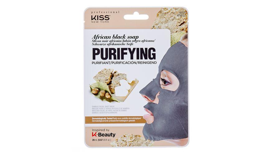 KISS Professional New York Natur Vlies Maske African black Soap