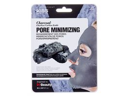 KISS Professional New York Natur Vlies Maske Charcoal