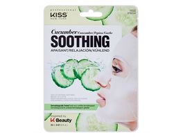 KISS Professional New York Natur Vlies Maske Cucumber