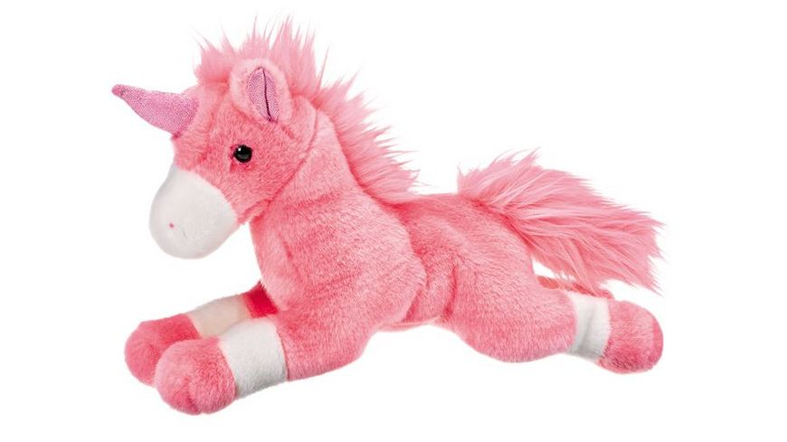 Mueller Toy Place Einhorn liegend rosa 30 cm